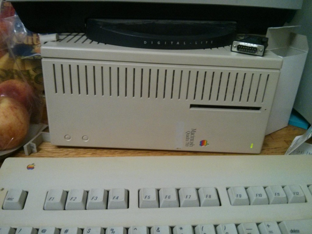 Macintosh Quadra 700. This machine was a top-of-the-line computer that cost $6000 in 1991.
